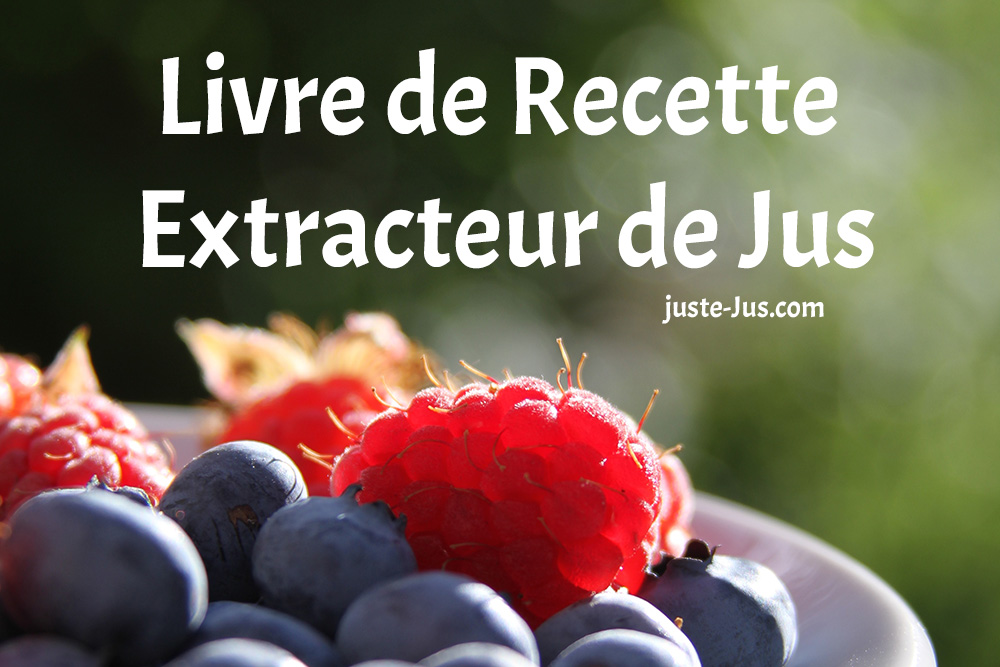 livre recette extracteur de jus